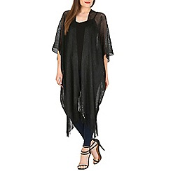 Voulez Vous - Black oversized metallic kimono