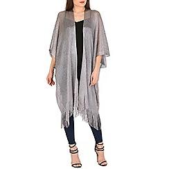 Voulez Vous - Silver oversized metallic kimono