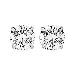 Dyrberg Kern - Silver nene crystal stud earing