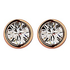 Dyrberg Kern - Light gold nobel solitaire stud earring
