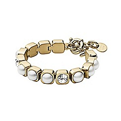 Dyrberg Kern - Gold coco tennis bracelet