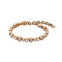 Dyrberg Kern - Light gold teresia linked tennis bracelet