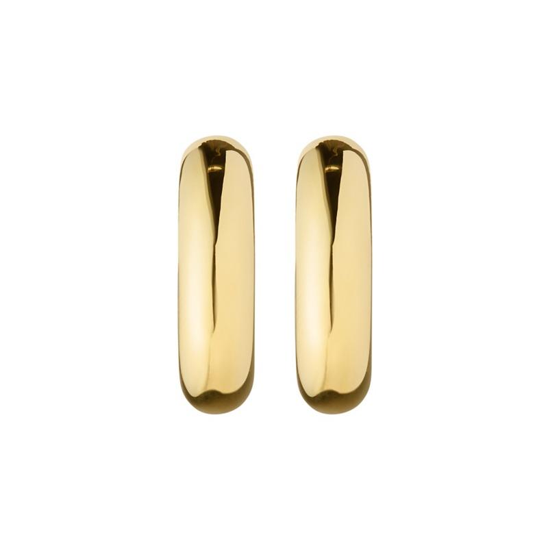 Dyrberg Kern Gold Ellen Hoop Earrings, Womens, Size: MISC