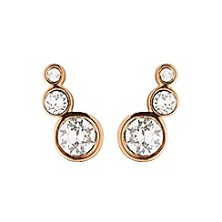 Dyrberg Kern - Light gold lini small earrings