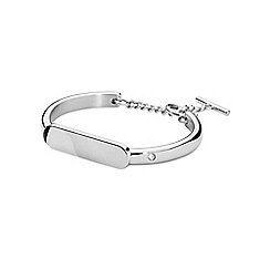 Dyrberg Kern - Silver drina bangle with bar closure