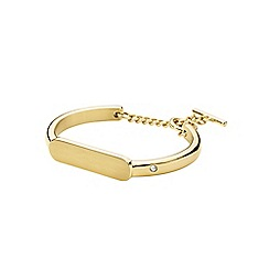 Dyrberg Kern - Gold drina bangle with bar closure