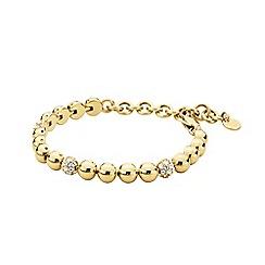 Dyrberg Kern - Gold fontana crystal tennis bracelet