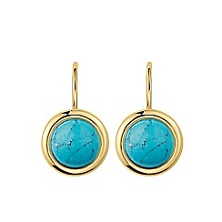 Dyrberg Kern - Turquoise poala french hook earrings