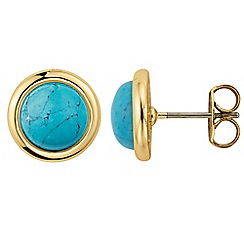 Dyrberg Kern - Gold fina turquoise