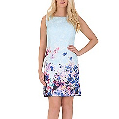 Izabel London - Blue sleeveless floral print dress