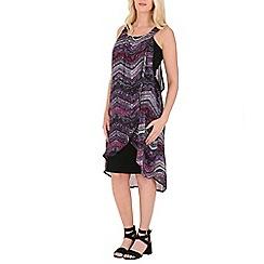 Izabel London - Purple zig zag patterned dress