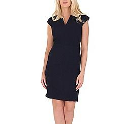 Izabel London - Navy split neck tea dress