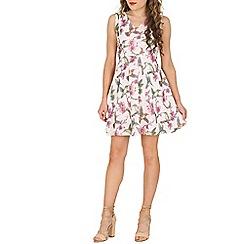 Mela - Multicoloured bird floral summer dress