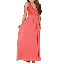 AX Paris - Peach floral lace maxi dress