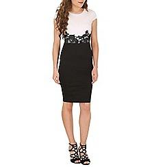 AX Paris - Black embroidery waist bodycon dress