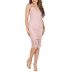 AX Paris - Pink crochet midi dress
