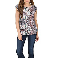 Izabel London - Blue scarf print top