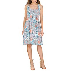 Izabel London - Peach swirl print sundress