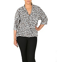 Samya - Beige animal print blouse
