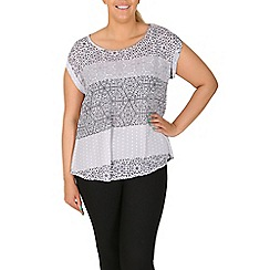 Samya - Grey urban printed panel top
