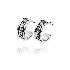 Dyrberg Kern - Silver kimmie crystal hoop earring