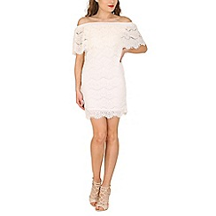 Lili London - Ivory ayia-napa lace bardot dress