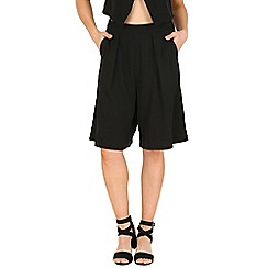 Oeuvre - Black longline tailored shorts