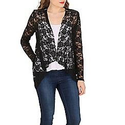 Mela - Black lace zip jacket