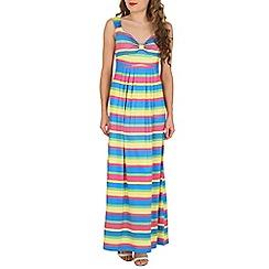 Mela - Multicoloured candy striped maxi dress