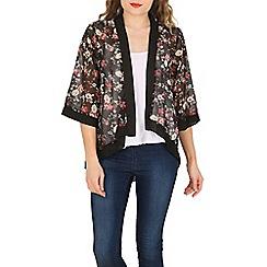Mela - Black little floral kimono