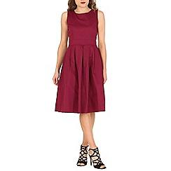 Jolie Moi - Dark red 50s pleated dress