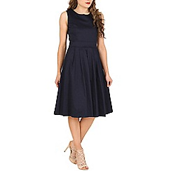 Jolie Moi - Navy 50s pleated dress