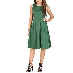 Jolie Moi - Dark green 50s pleated dress