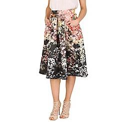 Jolie Moi - Black floral print a-line skirt