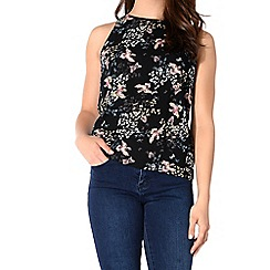 Alice & You - Black printed shell top