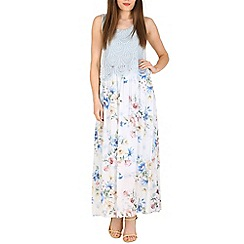 Pussycat London - Blue croshet detail maxi dress