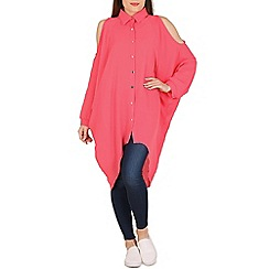 Pussycat London - Pink open shoulders lonline blouse