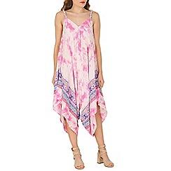 Izabel London - Pink tie dye printed dress