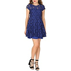 Izabel London - Blue crotchet detail dress