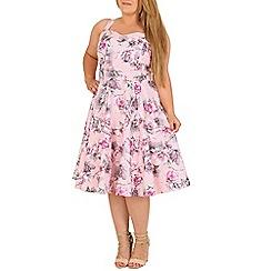 Samya - Pink floral 50s style cocktail dress