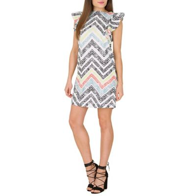 Cutie Green geometric print shift dress