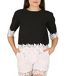 Cutie - Black lace trimmed top
