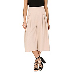 Cutie - Cream stretchy fabric culottes
