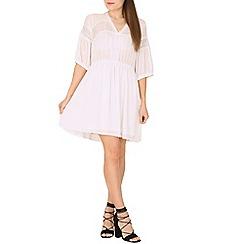 Cutie - White lace detailed blouse dress