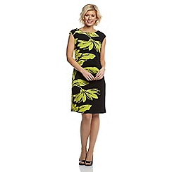 Roman - Lime leaf print shift dress