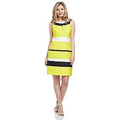 Roman - Yellow stripe detail dress
