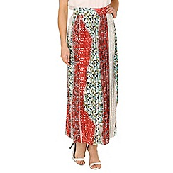 Tenki - Multicoloured pleated floral maxi skirt