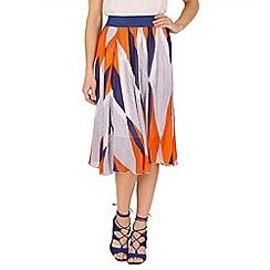 Tenki - Multicoloured diamond print midi skirt