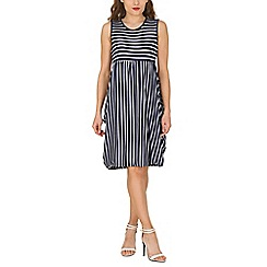 Izabel London - White stripe tulip dress