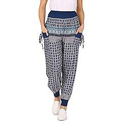 Izabel London - Blue long patterned pants